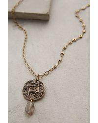 Anthropologie - Metallic Caribou Pendant Necklace - Lyst