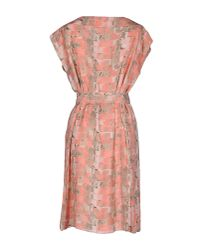 Armani | Blue Knee-length Dress | Lyst