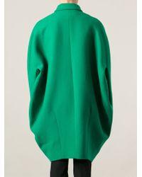 Gianluca Capannolo   Green Oversized Cocoon Coat   Lyst