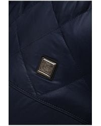BOSS Orange Blue 'c-orano' Jacket With A Quilt Effect for men