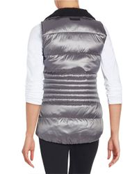 Calvin Klein | Metallic Fleece Collar Puffer Vest | Lyst