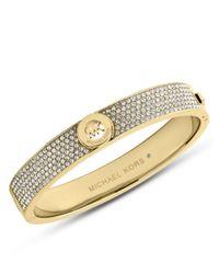 MICHAEL Michael Kors | Metallic Fulton Goldtone And Glitz Bangle Bracelet | Lyst