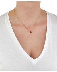 KC Designs - Metallic Rose Gold Black Diamond Letter A Necklace - Lyst