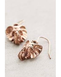 Anthropologie - Metallic Rose Gold Elephant Drop Earrings - Lyst