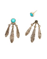 Pamela Love | Blue Frida Ear Jacket In Brass & Turquoise | Lyst