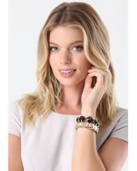 Bebe | Metallic Large Crystal Bracelet Set | Lyst