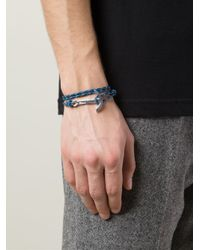 Miansai | Blue Anchor Detail Bracelet for Men | Lyst
