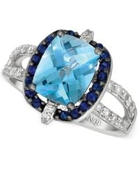 Le Vian - Blue Topaz (2-3/4 Ct. T.w.), Blueberry Sapphire (1/3 Ct. T.w.) And Vanilla Diamond (1/3 Ct. T.w.) Ring In 14k White Gold - Lyst