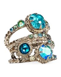 Sorrelli - Blue Stacked Ring - Lyst