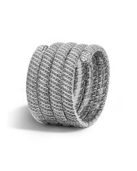 John Hardy | Metallic Classic Chain Multiple Coil Bracelet With Diamonds | Lyst