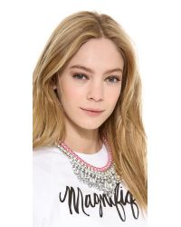 Adia Kibur - Pink Crystal Adorned Choker Necklace  White - Lyst