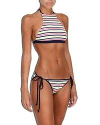 MILLY - Multicolor Cabana Marina Crochet Stripe Biarritz Bikini Bottom - Lyst