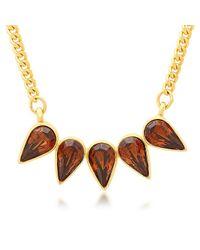 George & Laurel - Metallic Yuba Necklace - Lyst