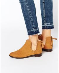 ASOS | Brown A Moment To Think Stud Tassel Ankle Boots | Lyst