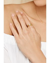 Forever 21 - Metallic Cool And Interesting A Initial Ring - Lyst
