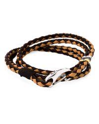 Paul Smith | Brown Braided Wrap Bracelet for Men | Lyst