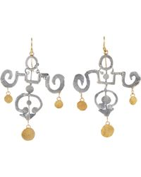 Judy Geib | Metallic Gold & Silver Yu Yuan Earrings | Lyst