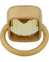 Linda Lee Johnson - Metallic Lemon Quartz & Gold Pomona Ring - Lyst