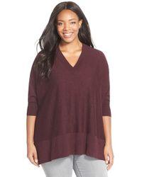 Sejour | Purple V-neck Dolman Sleeve Pullover | Lyst