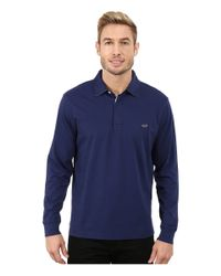 Vineyard Vines | Blue Mallery Long Sleeve Jersey Polo for Men | Lyst