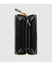 Gucci - Black Bamboo Tassel Crocodile Zip Around Wallet - Lyst