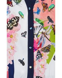 Clover Canyon - White Cascading Butterflies Cardigan - Lyst