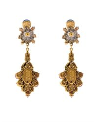 Erickson Beamon | Metallic Splash Gold-Plated Crystal Earrings | Lyst