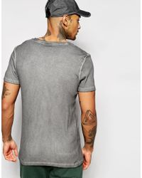 ASOS - Extreme Muscle T-shirt In Rib With Oil Wash In Washed Black - Washed Black for Men - Lyst