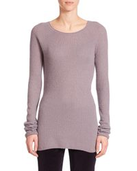 The Row | Purple Tilly Ribbed Cashmere Sweater | Lyst