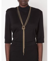 Lanvin | Yellow Chain Knot Necklace | Lyst