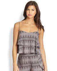 Tori Praver Swimwear   Gray Morningside Ruffle Crop Top   Lyst