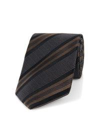 BOSS - Brown 't-tie 7.5 Cm'   Regular, Italian Silk Patterned Tie for Men - Lyst