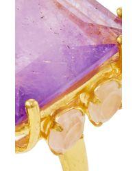 Bounkit   Metallic Amethyst And Rose Quartz Ring   Lyst