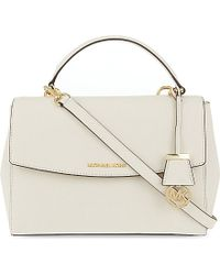 MICHAEL Michael Kors | Natural Ava Medium Saffiano Leather Satchel | Lyst