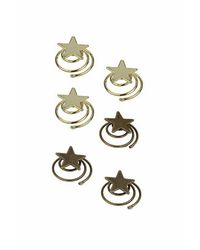 TOPSHOP | Metallic Set Of Six Star Swirl Clips | Lyst