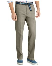 Izod | Green Madison Straight Fit No-iron Flat Front Chino Pants for Men | Lyst