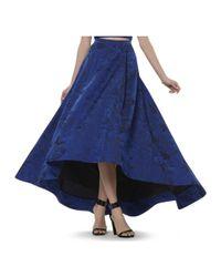 Alice + Olivia - Blue Cohe Asymmetrical Long Skirt - Lyst