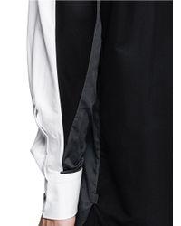 Lanvin - White Colourblock Poplin Shirt for Men - Lyst