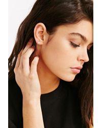 Adina Reyter - Metallic Pave Diamond Disc Single Earring - Lyst