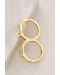 Elizabeth and James | Metallic Two-finger Arctic Ring | Lyst