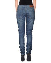 GANT - Blue Denim Trousers - Lyst