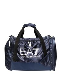 EA7 | Blue Nylon Canvas Duffle Bag | Lyst