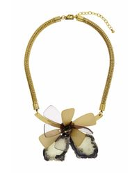 TOPSHOP | Green Flower Perspex And Stone Necklace | Lyst
