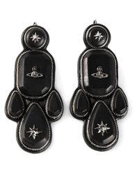 Vivienne Westwood | Black 'lakshmi' Earrings | Lyst
