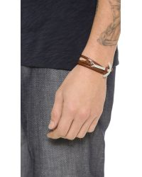 Miansai | Brown Modern Anchor Wrap Bracelet for Men | Lyst