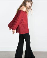 Zara | Purple Off-the-shoulder Top | Lyst