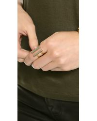 Madewell - Metallic Double Time Ring - Lyst