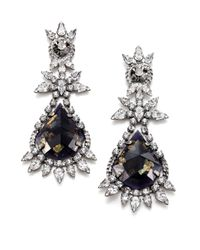 DANNIJO | Blue Aurelia Crystal Drop Earrings | Lyst