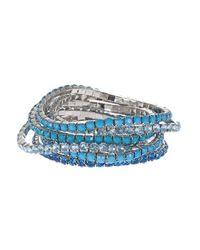 Catherine Stein | Gray Seven Piece Rhinestone Bracelets | Lyst