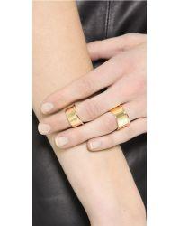 Elizabeth and James - Metallic Bau 2 Ring Set - Gold - Lyst